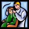 Barber Cutting a Little Boy's Hair clipart