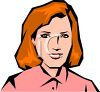 Realistic Style Woman wtih Red Hair clipart