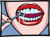 Woman Cleaning Her Teeth clipart