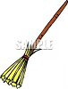 Old Fashioned Straw Broom clipart