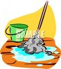 Mop and Pail clipart