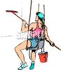 Professional Window Washer clipart