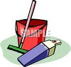 Floor Cleaning Items clipart