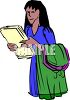 Assistant Bringing Files and Dry Cleaning clipart