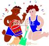 Mixed Race Children Playing on the Beach clipart
