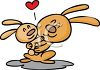 Rabbit Mother Hugging Her Baby clipart