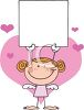 A Redheaded Stick Angel Holding A Sign Surrounded By Hearts clipart