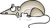 Scared Cartoon Rat clipart
