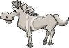 Cartoon of a Funny Looking Horse clipart