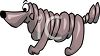 Wrinkled Shar Pei Cartoon Dog clipart