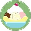 Banana Split Ice Cream Icon clipart