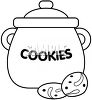 Black and White Cookie Jar clipart