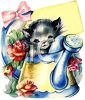 Kitten in a Watering Can clipart