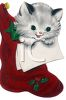 Kitten in a Christmas Stocking clipart