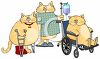 Cartoon of Fat Cats in the Hospital clipart