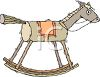 Cartoon of a Rocking Horse clipart