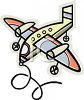 Airplane Pull Toy clipart