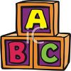 Wooden Alphabet Blocks clipart