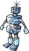Cartoon of a Robot clipart