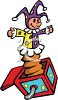 Jester Style Jack in the Box clipart