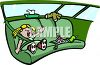 Little Girl Throwing a Fit in the Back Seat of a Car clipart