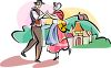 French Peasants Dancing clipart