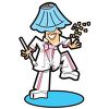Guy Dancing with a Lampshade on His Head clipart