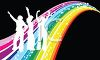 People Dancing on a Rainbow clipart