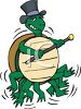 Tap Dancing Turtle clipart