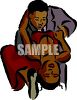 African American Couple Dancing clipart