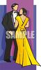 Couple At a Formal Dance clipart