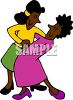 African American Lesbians Dancing clipart
