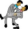 Gay Asian Couple Dancing clipart