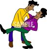 Homosexual Men Dancing clipart