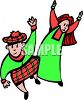 Scottish Kids Dancing clipart