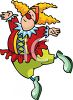 Dancing Clown clipart