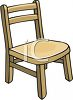Child's Wooden Chair clipart
