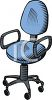 Task Chair on Wheels clipart