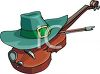 A Leprechaun Hat And A Fiddle clipart
