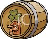 A Keg Of Beer With A Shamrock On It clipart