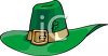 A Leprechaun Hat With A Shamrock clipart