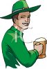 A Man Dressed As A Leprechaun With A Mug Of Beer clipart