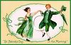 A Victorian Styled Saint Patricks Day Card clipart