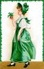 A Victorian Woman Dressed For Saint Patricks Day clipart