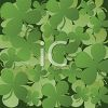 Four Leafed Clovers On A Dark Background clipart