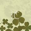 A Decorative Four Leafed Clover Background clipart