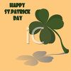 A Four Leaf Clover With A Happy Saint Patricks Day Message clipart