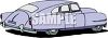 A Vintage Fleetline Sedan clipart