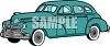 An American Vintage Sedan clipart