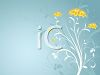 Yellow Flowers on a Blue Background clipart